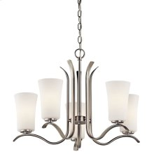Armida 5 Light Chandelier with LED Bulbs Brushed Nickel