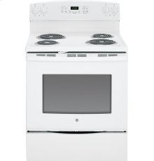 "GE® 30"" Free-Standing Electric Range-Self-Cleaning Coil Top"