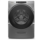 Whirlpool® 4.3 cu.ft Closet Depth Front Load Washer with Load & Go™ XL Dispenser, 40 Loads - Chrome Shadow Product Image