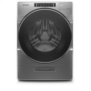 WhirlpoolWhirlpool® 4.3 cu. ft. Closet-Depth Front Load Washer with Load & Go™ XL Dispenser - Chrome Shadow