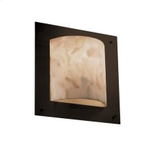 Framed Square 4-Sided Wall Sconce (ADA)