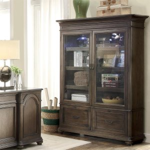 RiversideBelmeade - Bookcase - Old World Oak Finish