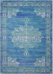 Delmar Dlm01 Teal Rectangle Rug 5'3'' X 7'3''