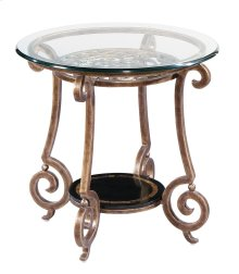 Zambrano Round End Table Base and Glass Top