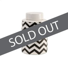 Chevron Small Canister with Lid
