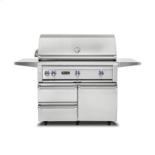 "42""W. Freestanding Grill with ProSear Burner and Rotisserie, Propane Gas"
