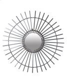 (LS) Antique ZInc Finished Metal Windmill Mirror (38.25x38.25x1) Product Image