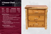 3 Drawer Chest -Traditional