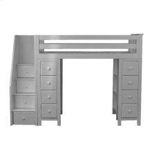 All in One Staircase Loft Bed Storage   Storage Grey