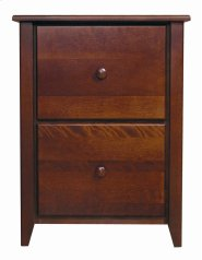 Home Office Letter Filing Cabinet With Two File Drawers Product Image