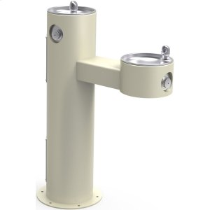 Elkay Outdoor Fountain Bi-Level Pedestal Non-Filtered, Non-Refrigerated Beige Product Image