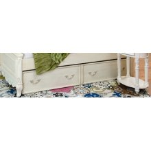 Trundle, 33 inch, Vintage White