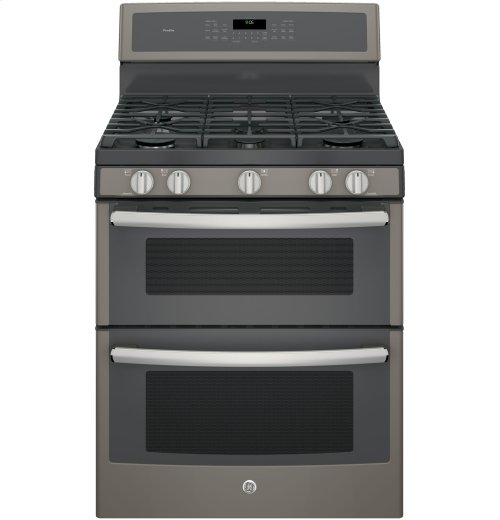 "GE Profile™ Series 30"" Free-Standing Gas Double Oven Convection Range"