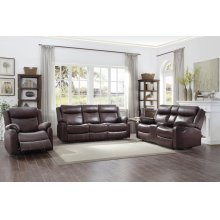 Double Lay Flat Reclining Sofa with Center Drop-Down Cup Holders