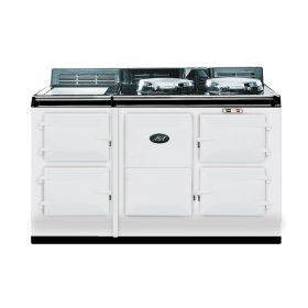 White 4-Oven AGA Cooker (electric) Electric fuelled cast-iron cooker