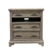 Bristol 3 Drawer Media Chest in Elm Brown Product Image