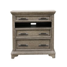 Bristol 3 Drawer Media Chest in Elm Brown