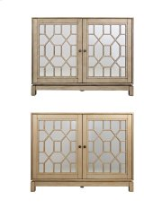 "Casa Bella Champagne Gold 50"" Mirrored Console Product Image"