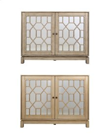 "Casa Bella Champagne Gold 50"" Mirrored Console"