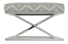 Pike Chrome Base Ottoman
