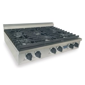 "Five Star36"" Six Burner Gas Cooktop, Sealed Burners, Stainless Steel"