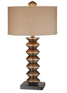Hammered Metallic Table Lamp