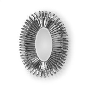 Curls Around Oval Mirror