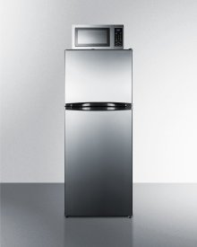 """Frost-free Refrigerator-freezer-microwave Combination Unit With 24"""" Width and Stainless Steel Doors"""