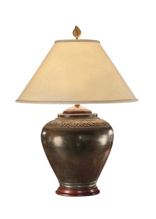 Carved Neck Pot Lamp
