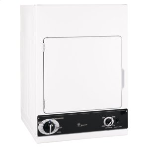 GE Spacemaker® 240V Stationary Electric Dryer - WHITE