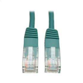 Cat5e 350MHz Molded Patch Cable (RJ45 M/M) - Green, 14-ft.
