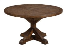 "Round Dining Table Top and Base W/20"" Butterfly Leaf"