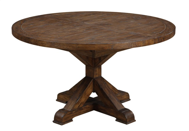 Round Dining Table W 20 Butterfly Leaf Kit
