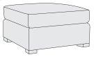 Farrah Ottoman in Mocha (751) Product Image