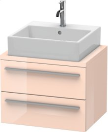 X-large Vanity Unit For Console Compact, Apricot Pearl High Gloss Lacquer