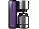 Coffee Maker with High Quality Stainless Steel & Glass Finish, Violet Product Image
