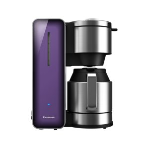 PANASONICCoffee Maker with High Quality Stainless Steel & Glass Finish, Violet