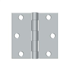 "3""x 3"" Square Hinge - Brushed Chrome"