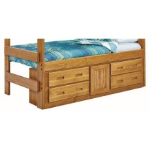 Heartland Underbed 4 Drawer with 1 Door Storage with options: Honey Pine