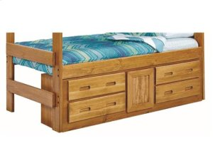 Heartland Underbed 4 Drawer with 1 Door Storage with options: Chocolate