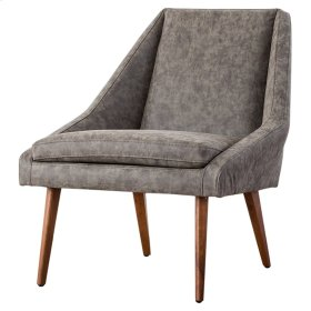 Enzo KD PU Accent Chair, Kalahari Gray