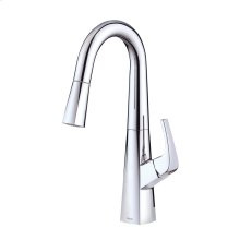 Chrome COMING SUMMER 2019 - Vaughn® Single Handle Pull-Down Prep Faucet