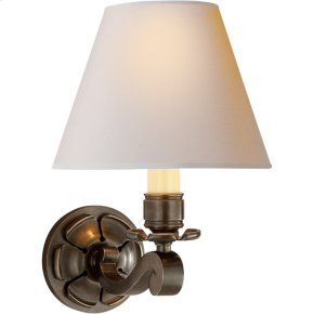 Visual Comfort AH2004GM-NP Alexa Hampton Bing 1 Light 8 inch Gun Metal with Wax Decorative Wall Light