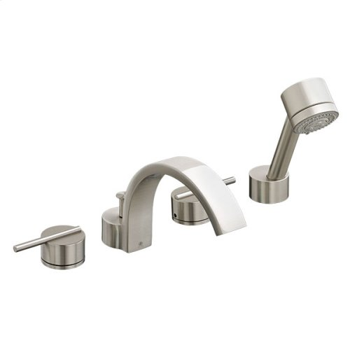 Rem Deck Mount Bathtub Faucet with Hand Shower - Brushed Nickel