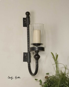 Garvin Twist, Sconce with Candle