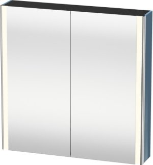 Mirror Cabinet, Stone Blue High Gloss Lacquer