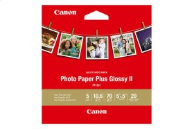 Canon Photo Paper Plus Glossy II 5x5 (20 Sheets) Photo Paper Plus Glossy II