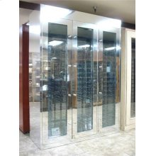 Custom Aluminum Wine Cabinet - Scratch n Dent (CALL FOR FREIGHT QUOTE)