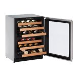 """2000 Series 24"""" Wine Captain(r) Model With Stainless Frame Finish and Field Reversible Door Swing (115 Volts / 60 Hz)"""