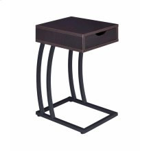 Industrial Cappuccino Accent Table
